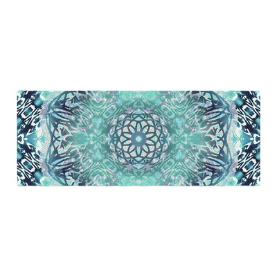 Nina May Ikat Batik Mandala Mixed Media Bed Runner