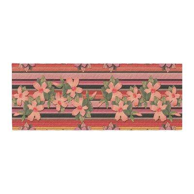 Nina May Hibiscus Stripe Bed Runner