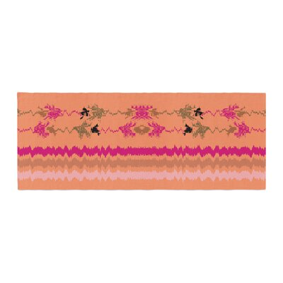 Nina May Nava Tribal Bed Runner Color: Peach