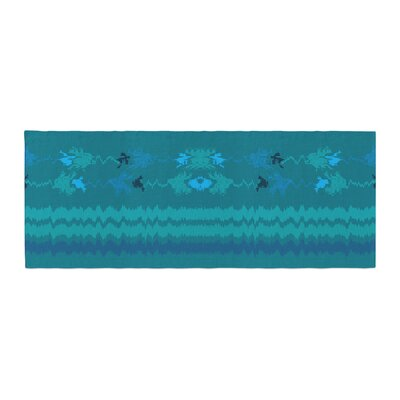 Nina May Nava Tribal Bed Runner Color: Turquoise