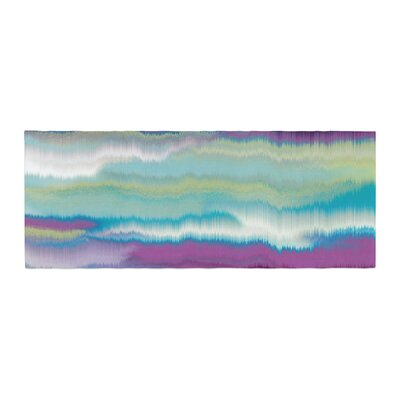 Nina May Artika Bed Runner Color: Blue/Teal Yellow