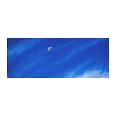 Nick Nareshni Daylight Moon Photography Bed Runner
