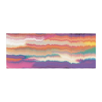 Nina May Artika Bed Runner Color: Sunset/Purple Orange