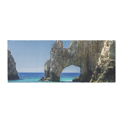 Nick Nareshni Stone Archway Over Water Photography Bed Runner