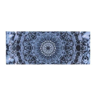 Nina May Tie-Dye Mandala Jain Illustration Bed Runner Color: Blue