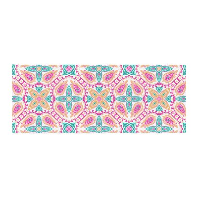 Nandita Singh Boho in Pattern Abstract Bed Runner Color: Multicolor
