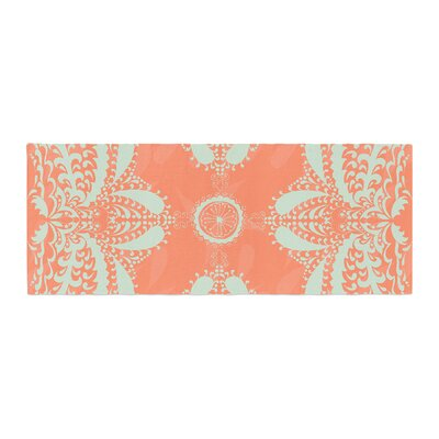 Nandita Singh Motifs Floral Bed Runner Color: Peach/Orange