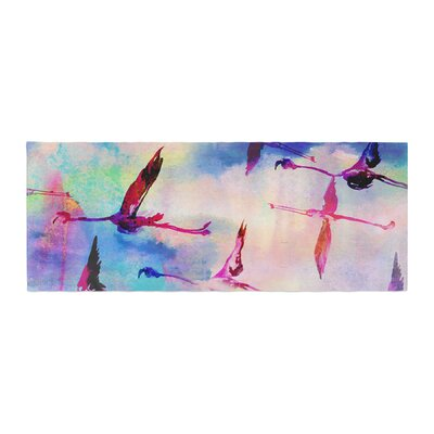 Nikki Strange Flamingo in Flight Bed Runner