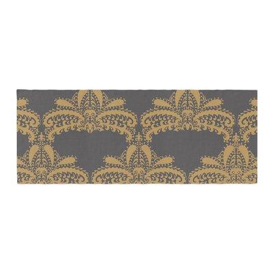 Nandita Singh Decorative Motif Floral Bed Runner Color: Gold/Copper