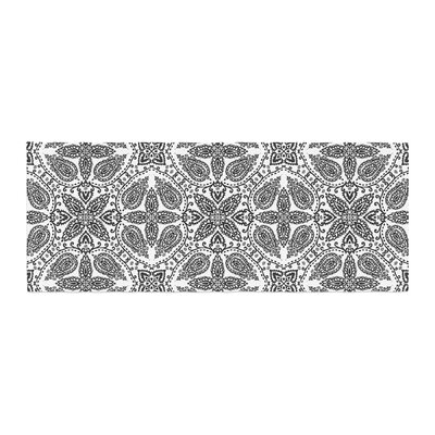 Nandita Singh Boho in Pattern Abstract Bed Runner Color: Black/White