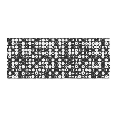Nandita Singh Funny Polka Dots Abstract Bed Runner