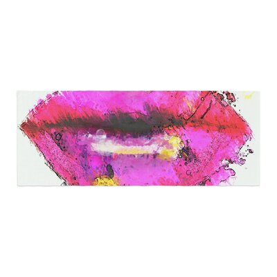 Oriana Cordero Kiss Me Lips Bed Runner