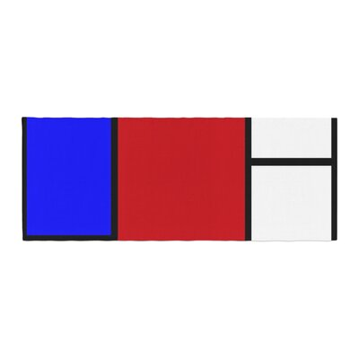 Oriana Cordero Mondrian and Me Squares Bed Runner