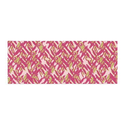 Nandita Singh Abstract Print Bed Runner Color: Pink