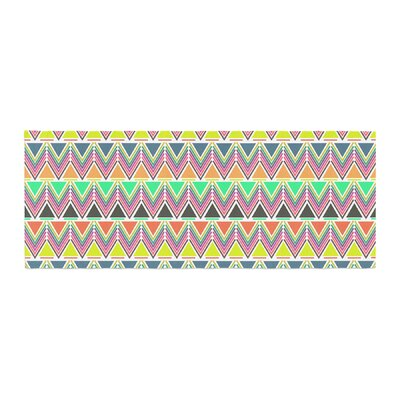 Nandita Singh Pattern Play Chevron Bed Runner Color: Multi/White