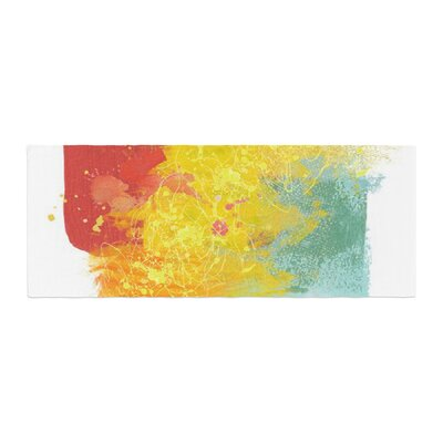 Oriana Cordero Medley Colorful Paint Bed Runner