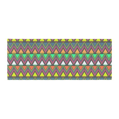 Nandita Singh Pattern Play Chevron Bed Runner Color: Multi/Gray