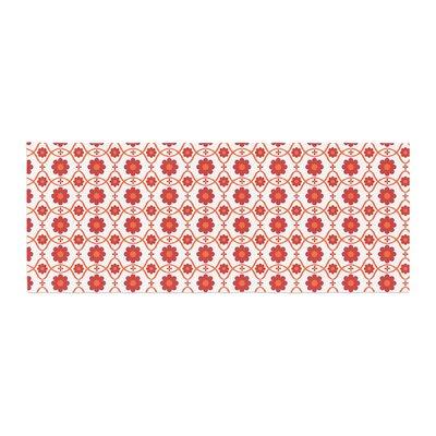 Nandita Singh Floral Pattern Bed Runner Color: Red