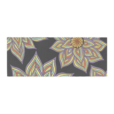 Pom Graphic Design Floral Rhythm in the Dark Bed Runner