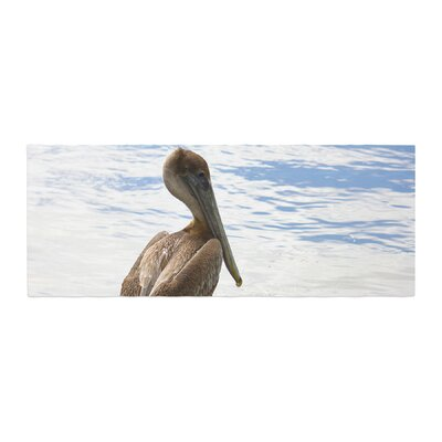 Philip Brown Pelican Waiting Photography Bed Runner