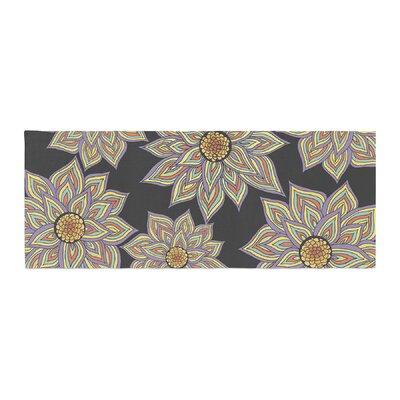 Pom Graphic Design Floral Dance in the Dark Bed Runner