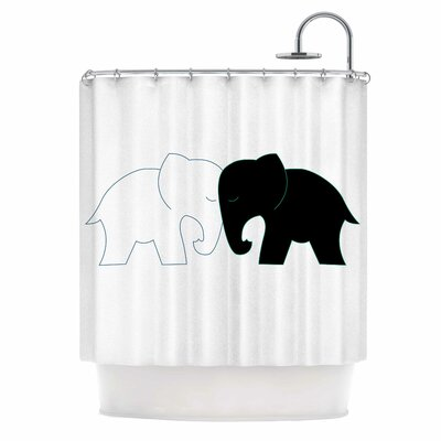 NL Designs Elephant Love Shower Curtain