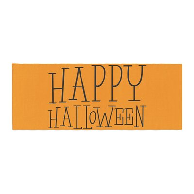 Happy Halloween Bed Runner Color: Orange