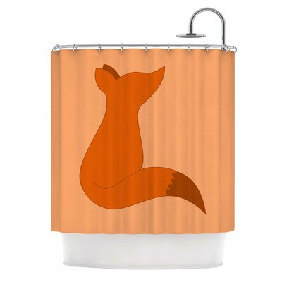 NL Designs Fox Digital Shower Curtain