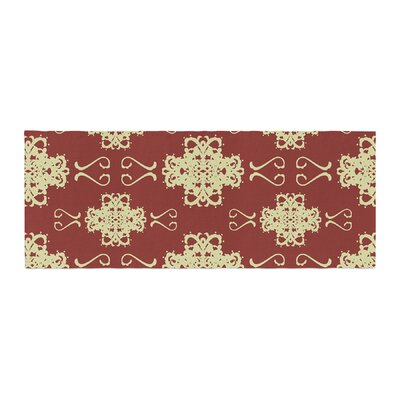Mydeas Asian Motif Damask Pattern Bed Runner