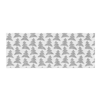 Michelle Drew Herringbone Forest Bed Runner Color: Black/Gray