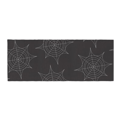Spiderwebs Bed Runner Color: Black