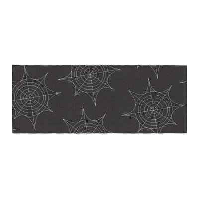 Spiderwebs Bed Runner Color: Black
