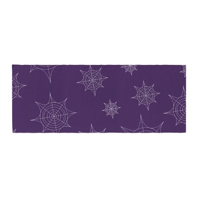 Mini Webs Bed Runner Color: Purple