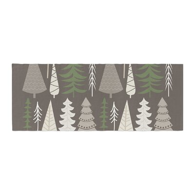 Happy Forest Bed Runner Color: Brown/Green