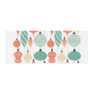 Mixed Ornaments Bed Runner Color: Orange/Teal