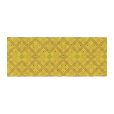 Mydeas Dotted Plaid Geometric Bed Runner