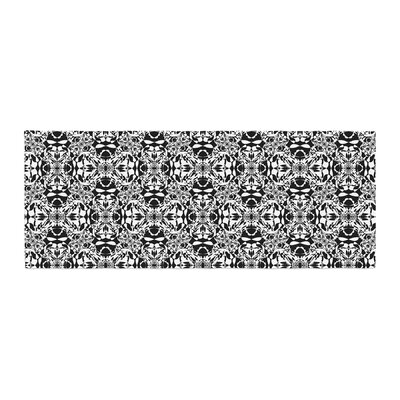 Mydeas Diamond Illusion Damask Pattern Bed Runner Color: Black/White