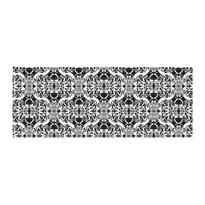Mydeas Illusion Damask Monochrome Bed Runner Color: Black/White