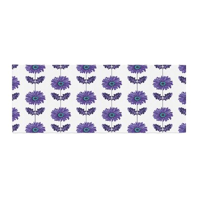 Laura Escalante Gerbera Flower Bed Runner Color: Purple