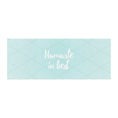 Namaste in Bed Bed Runner Color: Teal