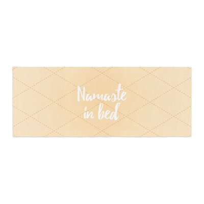 Namaste in Bed Bed Runner Color: Yellow