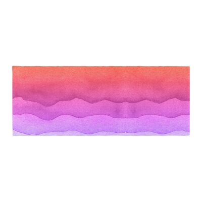 Ombre Sunset Abstract Bed Runner