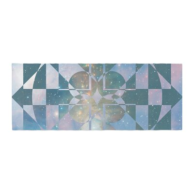 Matt Eklund Galactic Hope Bed Runner Color: Aqua/Blue