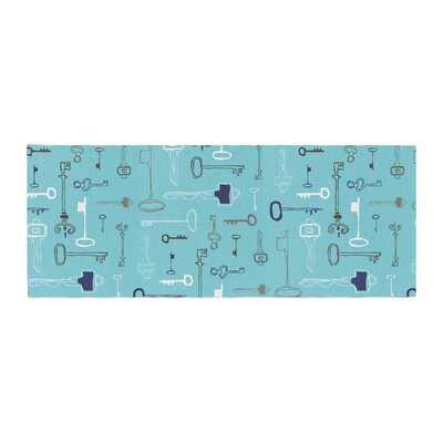 Laurie Baars Keys Bed Runner Color: Blue/Aqua