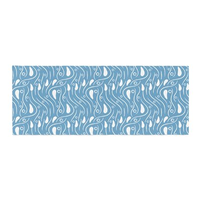 Mydeas Dots in the Wind Pattern Vector Bed Runner