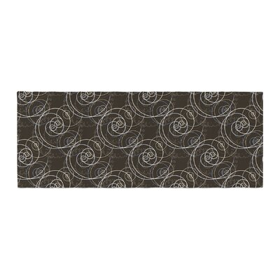 Mydeas Nautical Breeze - Spiral Swirls Pattern Bed Runner