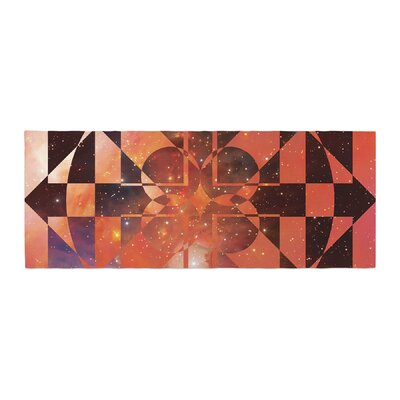 Matt Eklund Galactic Hope Bed Runner Color: Red/Orange