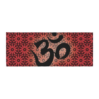 Om Bed Runner Color: Red
