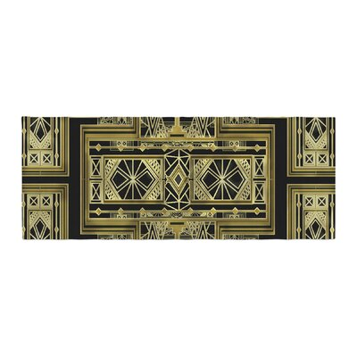 Nika Martinez Art Deco Bed Runner Color: Black/Gold