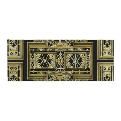 Nika Martinez Art Deco Bed Runner Color: Black/Gold